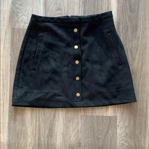 Button Down Black Mini Skirt from HYFVE